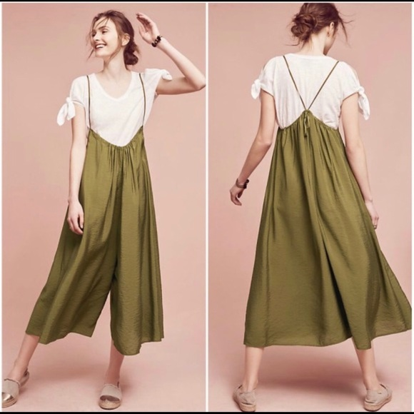 14a36427b35e Anthropologie Pants - AKEMI + KIN Olive Green Suspender Jumpsuit Size M